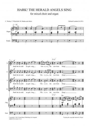 LAMBERT, Richard : Hark! The Herald Angels Sing